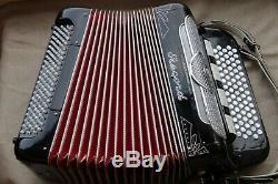 Le Registre D'accordéon C-système, Trois Fois Trémolo Musette, 4 Roseau, Bon État