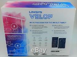 Linksys Lopper Whw0302 Pack 2 Tri-bande Système Mesh Wifi Blanc Dans Boîte Bonne Forme