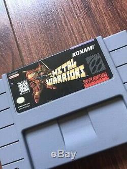 Metal Warriors (super Nintendo Entertainment System, 1995) Snes Bon État