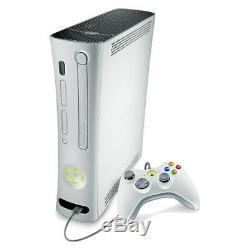 Microsoft Xbox 360 Core System Console Blanc Très Bon État Complet