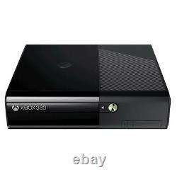 Microsoft Xbox 360 E Lancement Édition Noir Console 250 Go Très Bon État