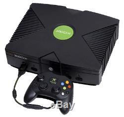 Microsoft Xbox Console Originale Noir Très Bon État