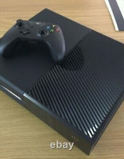 Microsoft Xbox One 500go Noire Console Bon État Contrôleur Endommagé Légèrement