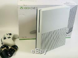Microsoft Xbox One S 1tb Console Blanche Bon Etat Fonctionne Parfaitement