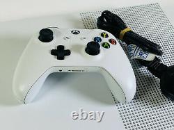 Microsoft Xbox One S 500 Go Console Blanche Bonne Condition Fonctionne Parfaitement