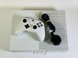 Microsoft Xbox One S 500 Go Console White Bonne Condition Travaux Parfectement