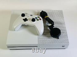 Microsoft Xbox One S 500go Console Blanche Bon Etat Fonctionne Parfaitement