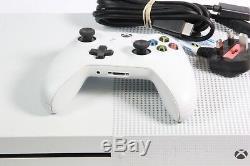 Microsoft Xbox One S 500go Console Blanche Bon Etat, Fonctionne Parfaitement