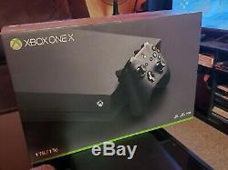 Microsoft Xbox One X De 4k Ultra Hd Console Noir Très Bon État + Box