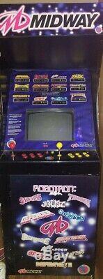 Midway 12 Dans 1 Arcade Système Bon État! Fonctionne Très Bien! Système Classic Arcade