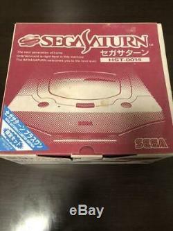 N Monnaie Sega Saturn Console Blanche Hst-0014 Boxsed Bonne Condition Testée Travail