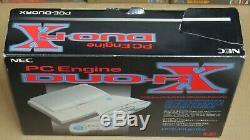 Nec Pc Engine Duo System-rx Console Boxed Bon État + Arcade Originale Pad