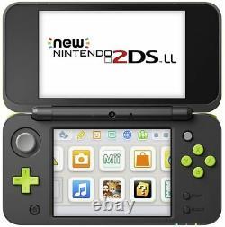 Nintendo 2ds LL Noir X Lime Bon État Utilisé (fully Working)