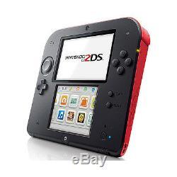 Nintendo 2ds Rouge / Noir Système Handheld Très Bon État