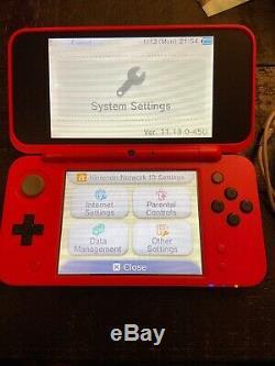 Nintendo 2ds XL Pokeball Pokemon Édition Rouge Blanc (très Bon État) Testé