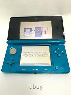 Nintendo 3ds Aqua Blue Console Corporelle D'occasion / En Bon État / Japan Game