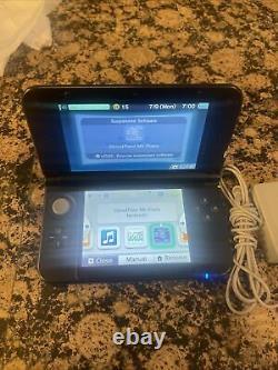 Nintendo 3ds XL Bleu/noir Bon État Chargeur Mémoire 4gb