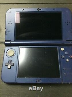 Nintendo 3ds XL Console Bleu + Chargeur Usb + 12 Jeux Bon État