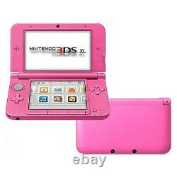 Nintendo 3ds XL Lancement Édition Rose Système Portable Très Bon État