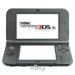 Nintendo 3ds XL Nouveau Système De Poche Noir Très Bon État