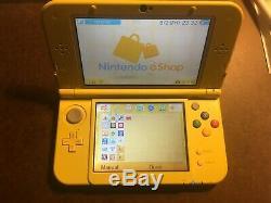 Nintendo 3ds XL Pikachu Édition Jaune Bon État Chargeur Inclus