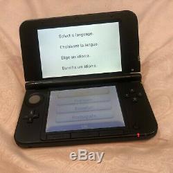 Nintendo 3ds XL Rouge Et Noir Portable Bundle Bonne Condition