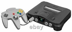 Nintendo 64 Charcoal Grey Console Bon État Complet