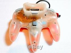 Nintendo 64 Console Boxed Effacer Rouge Très Bon État Matching Série