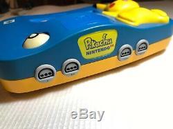 Nintendo 64 Console Pokémon Pikachu Bleu Très Bon État Matching Série