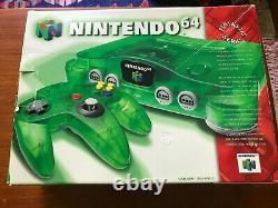 Nintendo 64 Jungle Green Funtastic Console, Cib, Bon État Général