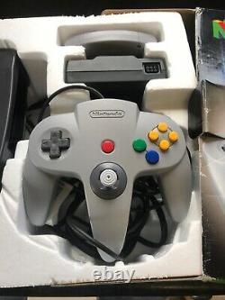 Nintendo 64 N64 Console Boxed Nettoyé Et De Travail Testée Bon État