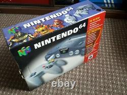 Nintendo 64 N64 Console Boxed Pal Bon État Testé Travail
