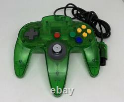 Nintendo 64 N64 Console Verte Entièrement En Bon État Pal