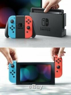 Nintendo Basculez Neon Blue Red Joy-con Jeu Vidéo Utilisé Bon État