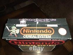 Nintendo Cereal Système Boîte Vide Avec Mario Zelda Hologram Bon État Ralston
