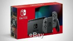 Nintendo Commutateur 32 Go Gris Gris Joy-cons. Ensemble Complet En Bon État