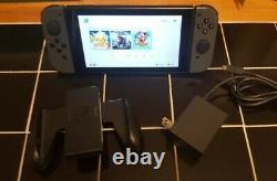 Nintendo Commutateur 32gb Gris Console W Gris Joy-cons Utilisé V1 Bonne Forme Oem Grip