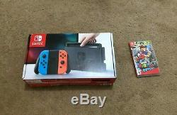 Nintendo Commutateur Neon Neon Rouge Et Bleu Joy-con Console 32gb Bonne Condition