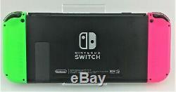 Nintendo Console Commutateur 32go Gris Avec Vert / Rose Joy-cons Bonne Forme