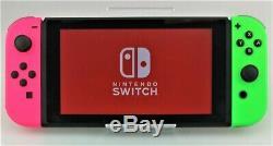Nintendo Console Commutateur 32go Gris Vert / Rose Joy-cons Bonne Forme