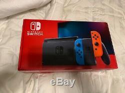 Nintendo Console Switch Bonne Entièrement Condition De Travail Ahc-001 64gb Micro Sd
