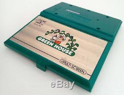 Nintendo Game Regarder Green House Gh-54. Instructions Boxed + De. Très Bonne Condition