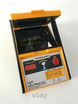 Nintendo Game & Watch G&w Snoopy Panorama Screen, En Bon État, Travail LCD Ga