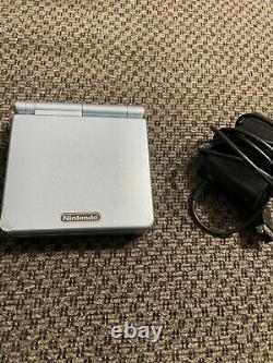 Nintendo Gameboy Advance Sp Ags-101 Pearl Blue Très Bon État