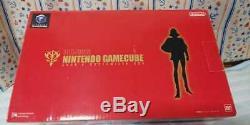 Nintendo Gamecube Gundam Char Console Système Box Bonne Contrôleur Rouge État