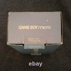 Nintendo Good Condition Game Boy Micro Body Blue Charger Box De Japan