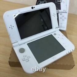 Nintendo Japan New 3ds LL XL Uniquement Japonais. Pearl White Utilisé Bon État Jp