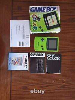 Nintendo Jeu Garçon Couleur Kiwi Vert Avec Boîte. Bon État De Travail Avec 5 Jeux