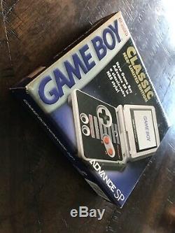 Nintendo Nes Classique Limitée Game Boy Advance Sp Complet En Boite! Bonne Forme