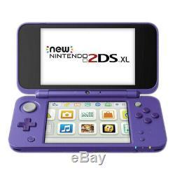 Nintendo New 2ds XL Violet Et Argent Système Portable Très Bon État
